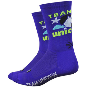 "DeFeet Aireator 6"" Chaussettes, team unicorn/purple"